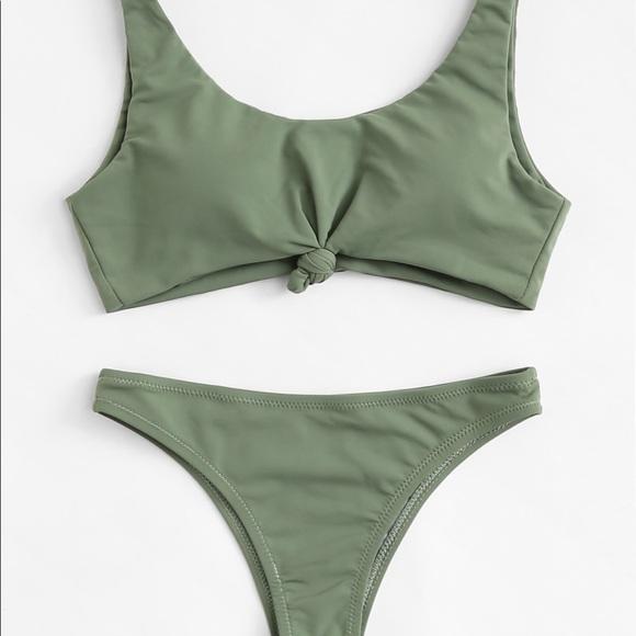 b165b70173 SHEIN Swim   Medium Olive Green Bathing Suit New   Poshmark